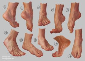 Feet Study 2 by irysching