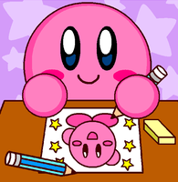 Kirby Drawing For Kittykun123 by cuddlesnam