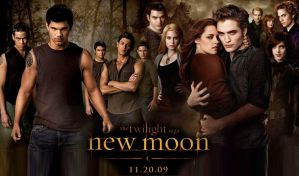 New Moon - Cullens + Wolf Pack by xoxoMissAshlee