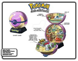 Pokemon Center Playset by toymaker-cl