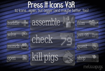 Press It Icons V3R by melissapugs