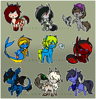 [Gift] Stickers ~ by silent-umbra