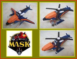 SWITCHBLADE de M.A.S.K. hecho en cartulina by Paperman2010
