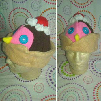 Neapolitan Penguin Waffle Cone  by Sew-it-all