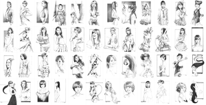 My AKB48 Member Portraits 1-48 by Sumo0172