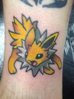 Jolteon - apprentice tattoo  by techn0vert