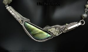 Abstract labradorite necklace right side up :D by IMNIUM