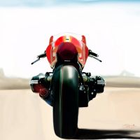 Hyper realistic BMW concept ninety superbike by geovailpintor