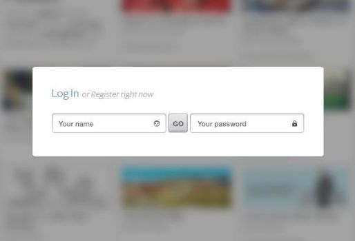 Clean and Simple login form by KostyaKoz