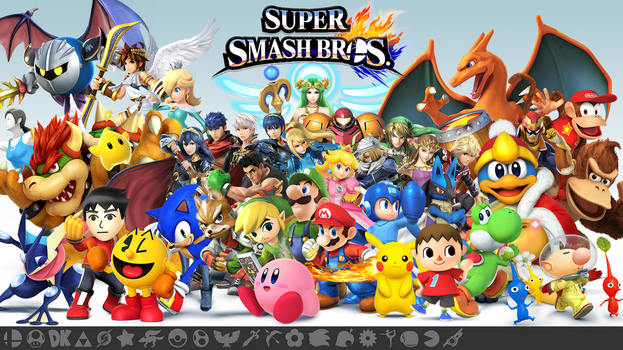 Super Smash Bros. Wii U/3DS Wallpaper by Marcos-Inu