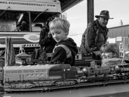 Christmas Trains by Vermontster