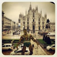 jumping jack Duomo di Milano, Italy by fasterfaster86