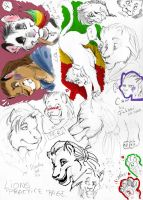 lion practice page by Fukari