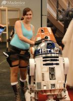 Lara Croft and R2 by Madenice
