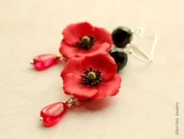 Red Poppies for Mom by allim-lip