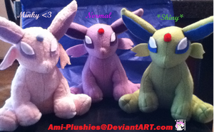 Small Espeon Plushies Sold by Ami-Plushies