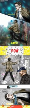 Supernatural S10.17-gag : into Bobby's Heaven by noji1203