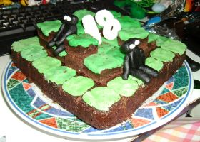 Minecraft Birthday Cake by delicioustrifle