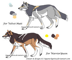 Customized wolves_Batch 2 by Aquene-lupetta