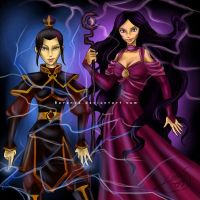 Azula and Nerissa: Shock by Berende