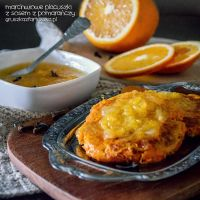 carrot pancakes with orange sauce by Pokakulka