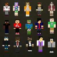 Some of my YouTube favorites (Minecraft) by SuperKawaiiCookie
