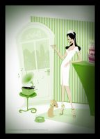 .:bakery pinup:. by StillesWasser