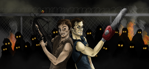 Daryl Dixon and Ash Williams by Bane-Shadows