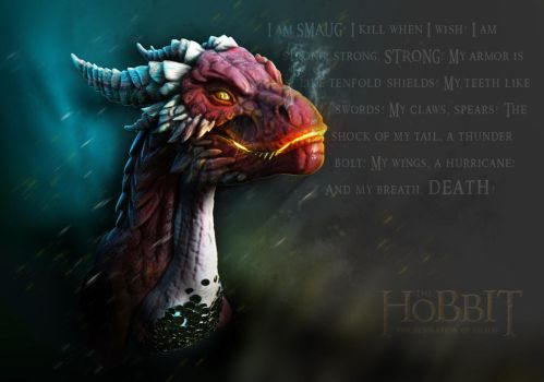 Smaug Character Poster by franeres