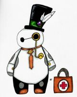 steampunk baymax by CrystaltheEchidna