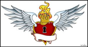sacred heart tatt colored by reindas