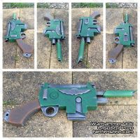 Warhammer 40K Laspistol mdf prop gun build by GirlyGamerAU