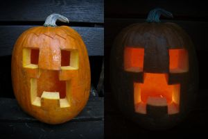 Creeper Pumpkin by BenjiiBen
