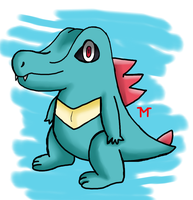 Pokecember Day 26 - Totodile by Morshute