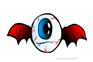 EYEBALL BAT by HAROLDX
