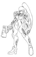 Samus+ metroid by N647
