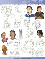 Sketchdump: Character Expression Spam by Phageous