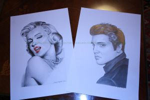 Marilyn and Elvis by Frida-Norgren