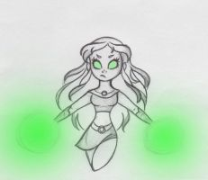 Don't mess with this princess - Starfire Sketch by SparklingNeptune
