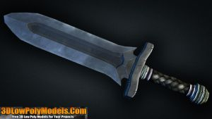 Dagger #5 3D Low Poly | 3DLowPolyModels.Com by 3dlowpolymodels