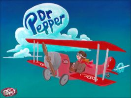 My Dr. Pepper Biplane by tursiart