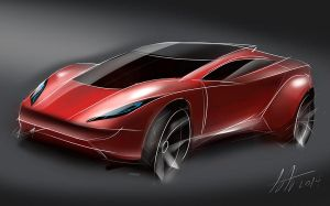 Tablet concept car sketch 2 by koleos33