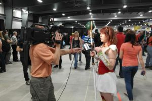 Getting Interveiw at Comicon by TenderCosplay