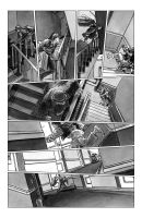 deadball noir comic pg2 chase scene by carbono14