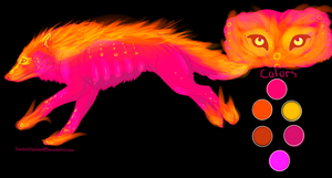 Fire Wolf Adoptable CLOSED by TheFireGypsy