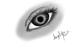 The Ugly Attempt of an Eye on my Tablet D: by GorillaFest