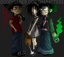 goofy gamer characters by annorekto