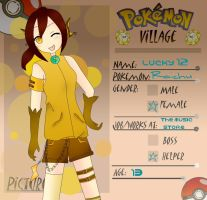 Poke-Village Application: Lucky12 by apple-kuun
