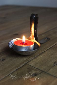 Ladle Tealight Holder by kate-arthur