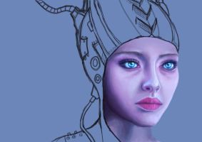 Scifi portrait WIP (Amanda Seyfried) by eev11